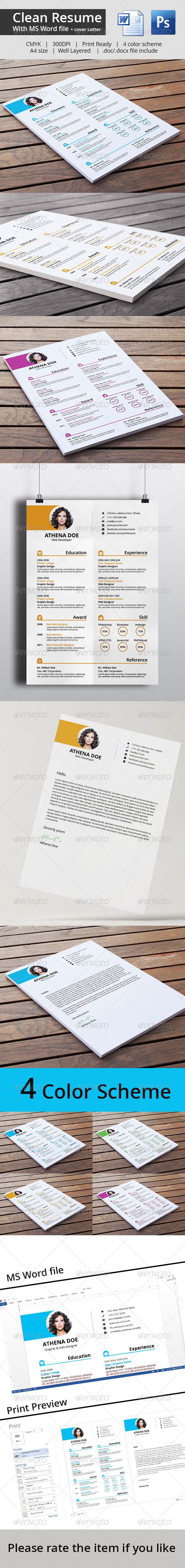 Clean Resume & Cover Letter With MS Word