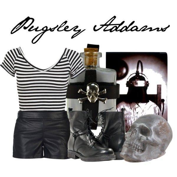 Pugsley Addams by disney-villains on Polyvore featuring Miss Selfridge, ONLY and Paolo Shoes