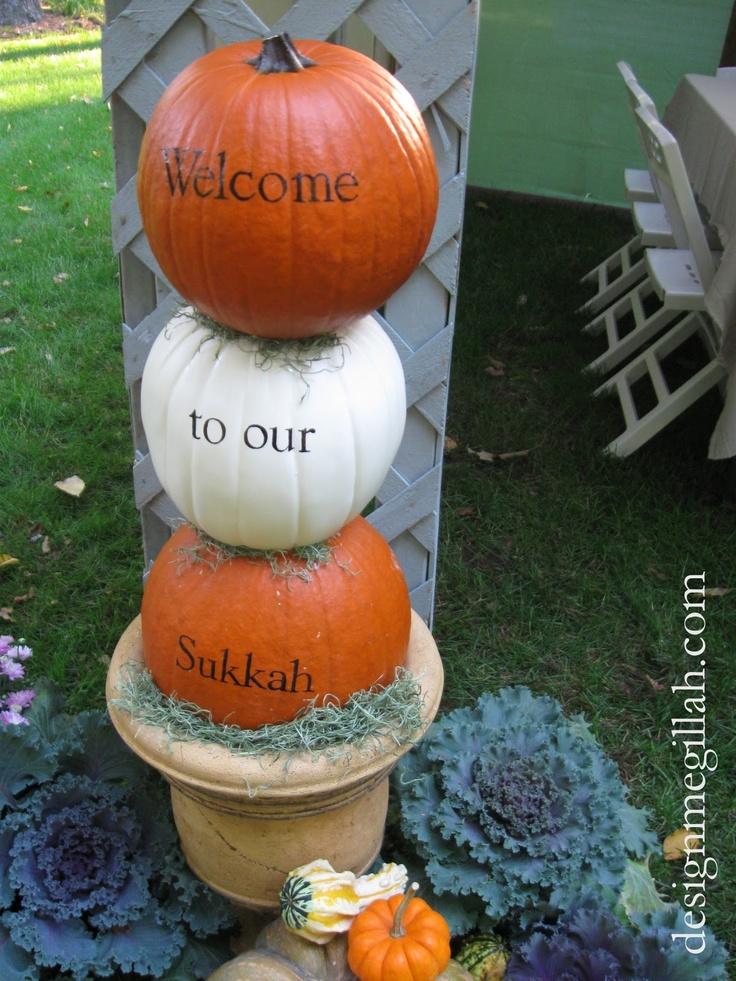 Sukkot pumpkin decoration