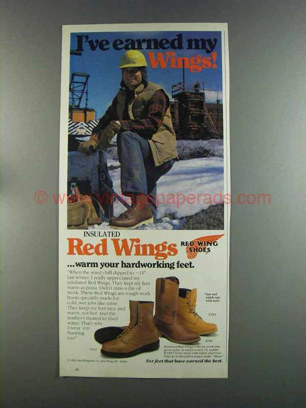 DR0721-1982 Red Wing Boots Ad - Model