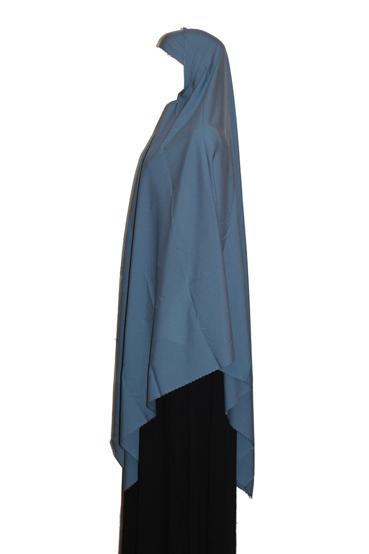 The 2 piece triangle is great for salah and is a hassle free overgarment for the night prayers during ramadan or Friday prayer because it provides great chest, arms and back coverage. Includes a matching underscarf.  Fabric: 100% Polyester