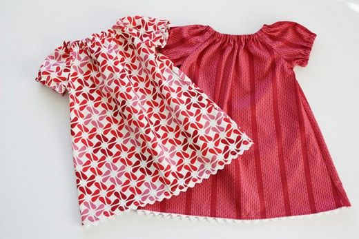 10 free sewing patterns for little girls' dresses