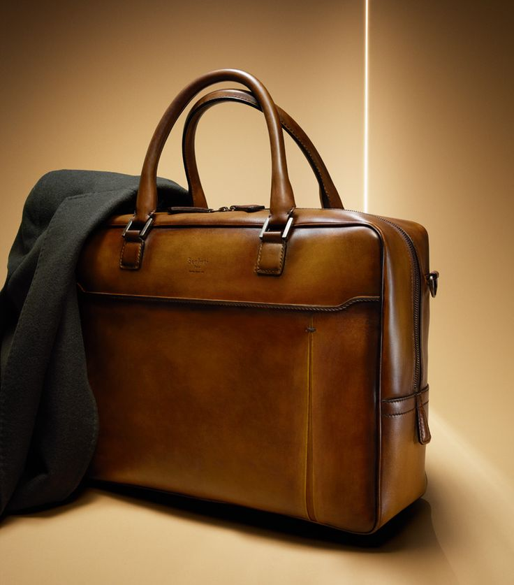 Cacao L'Actuel leather briefcase
