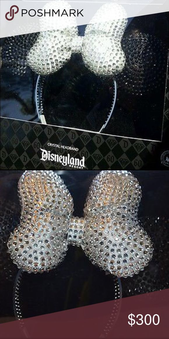Disneyland 60th Crystal Minnie Mouse Ears NIB Disneyland 60th crystal Minnie Mouse Ears headband! Only 200 of these were made and they're beyond beautiful!!! Completely encrusted with crystals! Purchased on my trip to Disneyland. New in box and will make any buyer happy. Great for New Years in the parks (or any day in the parks for that matter) 😘. Open to reasonable offers-especially if bundling. Ask any questions you may have :) happy poshing!! Disneyland  Accessories Hair Accessories