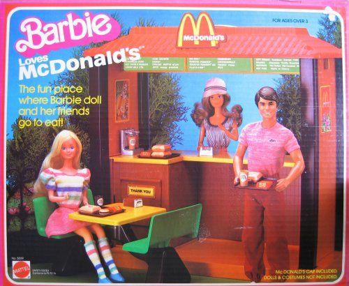 Barbie Loves Mcdonald S Playset 1980 S Aahh The Good Old