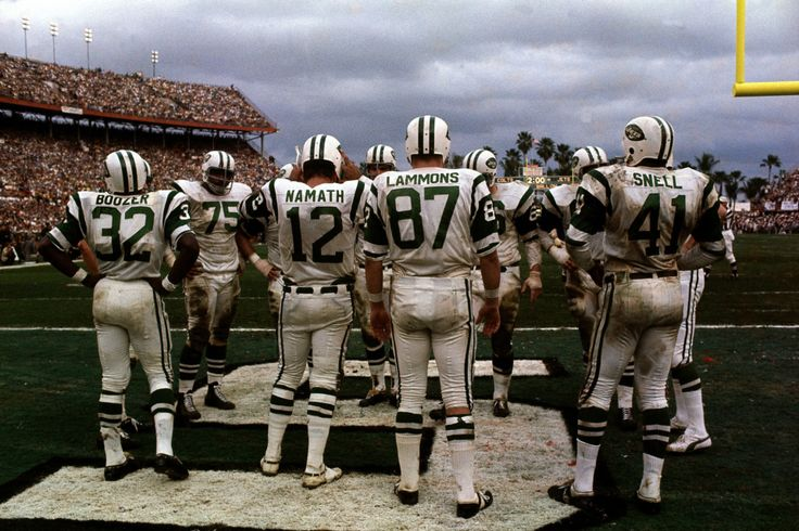 Joe Namath and the NY Jets in Super Bowl III.