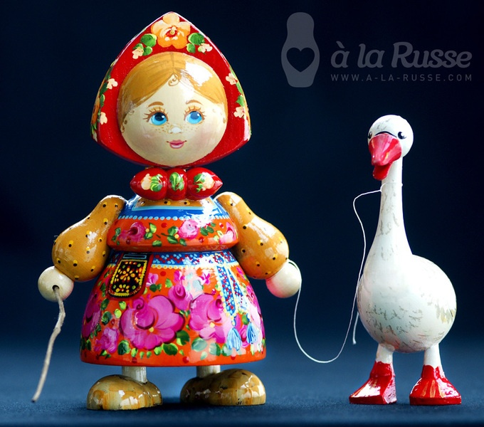Nice traditional russian wooden doll Kasha