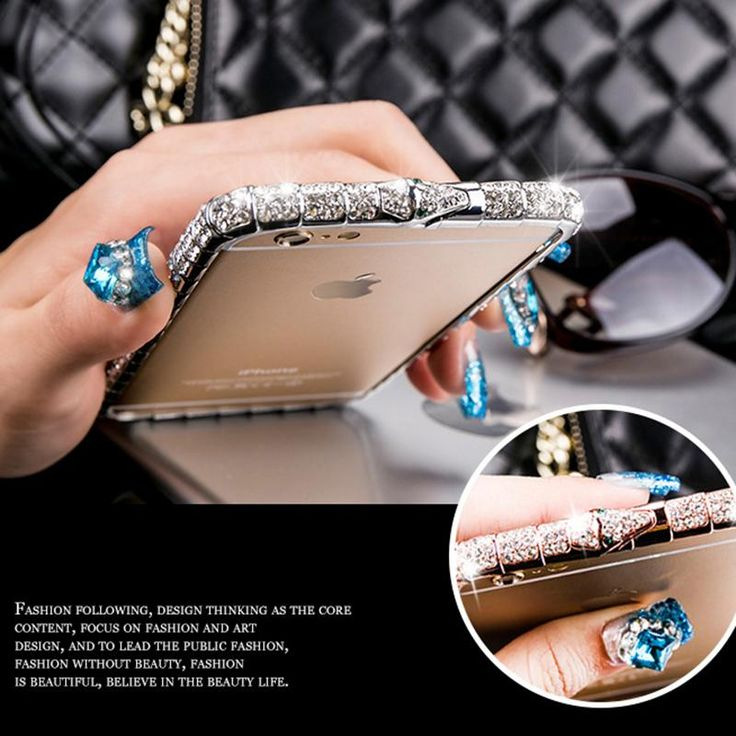 Hot! Top Quality Luxury Bling Snake Inlay Diamond Crystal Metal Bumper Back Cover Phone Case for iPhone 5 5S 6 6S 6 Plus 6S Plus  #Hot #Buy #New #Sale #Trend #Discount