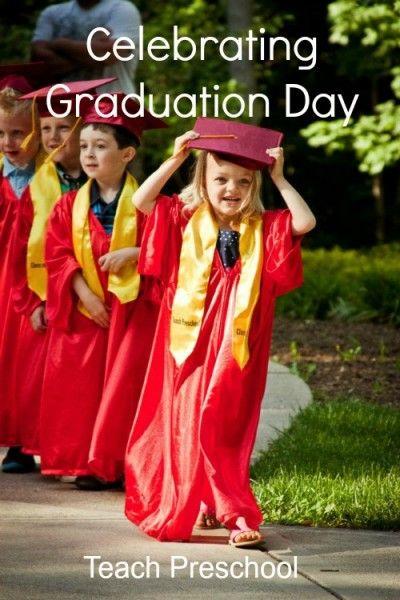 Celebrating graduation day in preschool