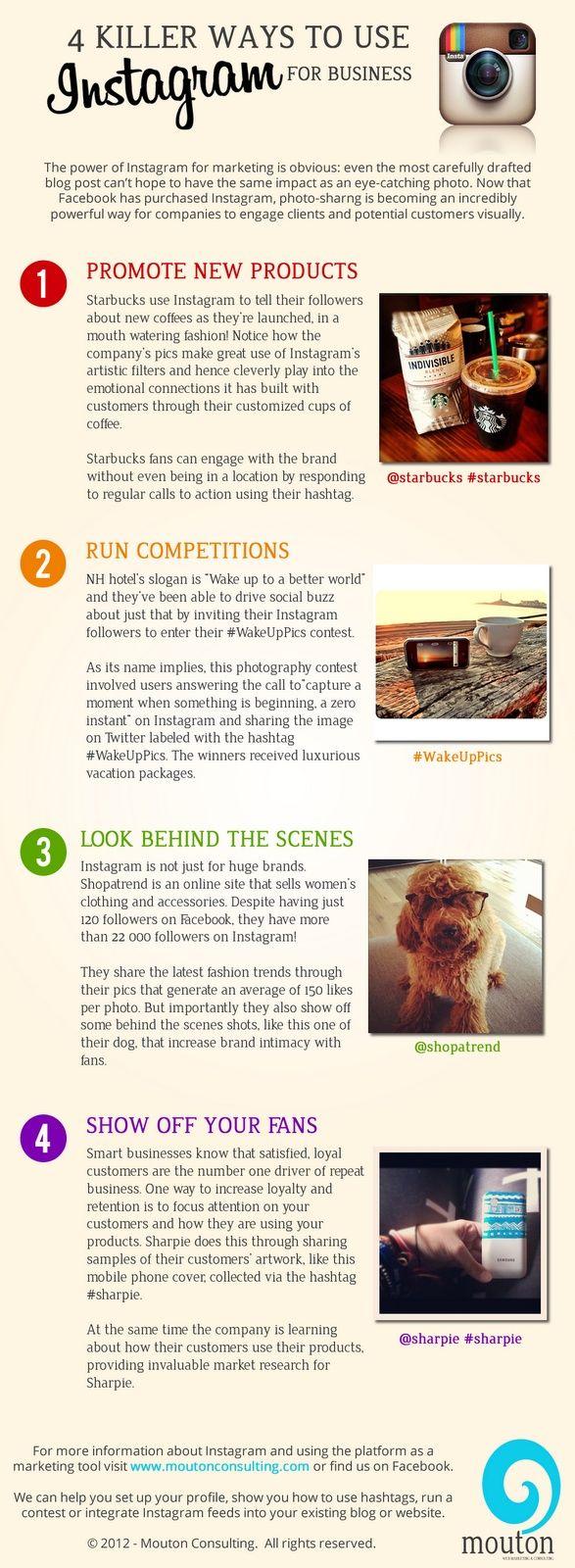 5 modi per ottenere il meglio da Instagram | 5 Ways to Get the Most Out of #instagram  #infographic
