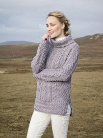 Merino Wool Cowl Neck Sweater A191