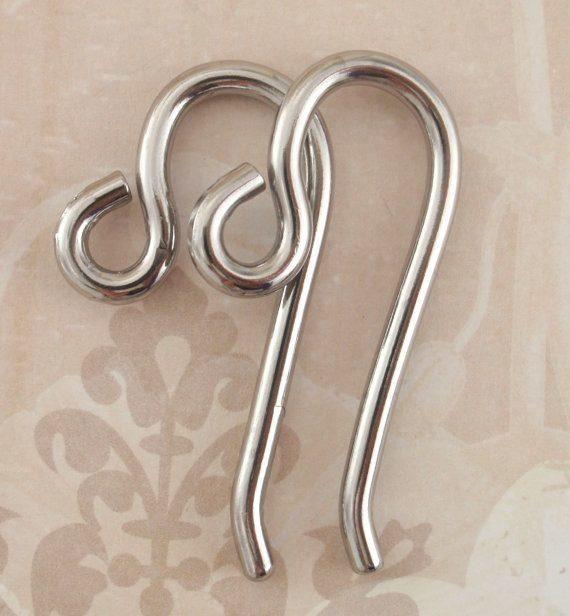 Handmade Earring Findings 10 Gauge Ear Wires Handmade Stainless Steel 1 Pair For Piercings Earring Trends Ear Jewelry Ear Gauges
