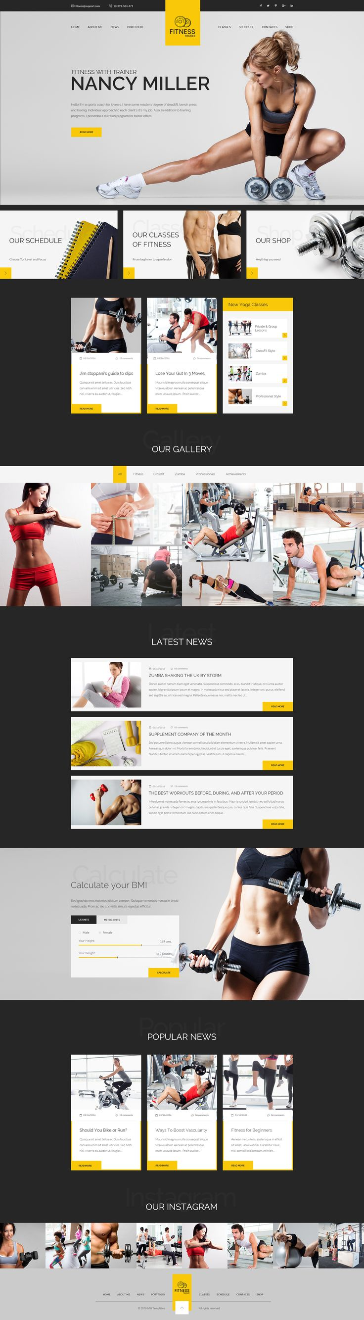 35 Fitness Website Designs Inspirations