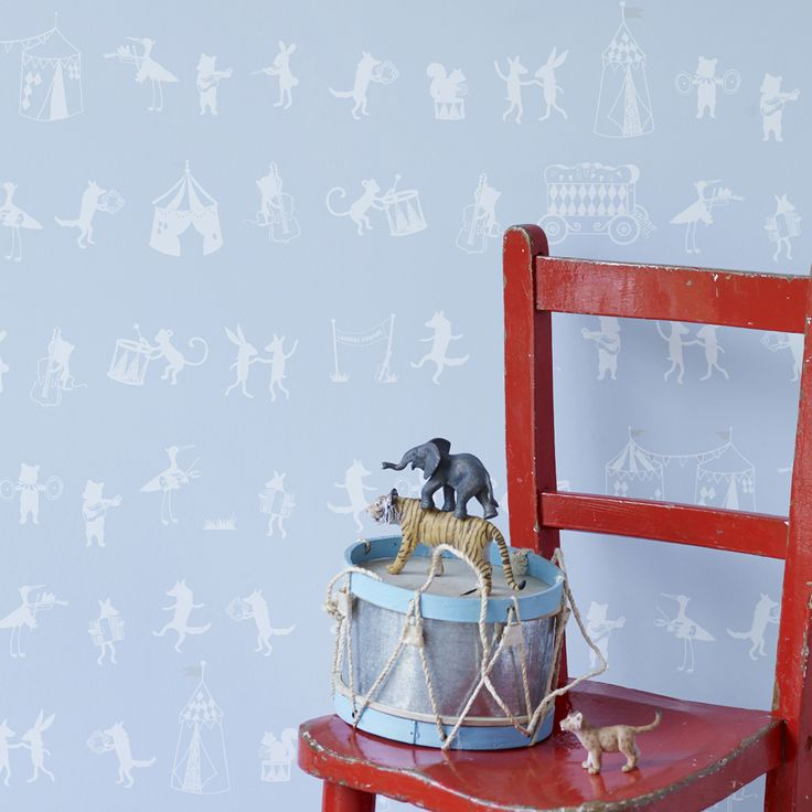 Hibou Home_Animal Parade wallpaper_HH00503_Pale Sky