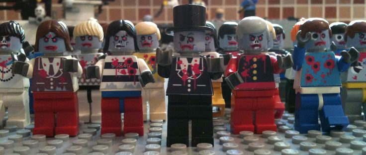 Lego Zombie Army.  Be afraid. Clearly gun shots can't take them down. #Lego #Zombie