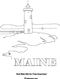 Adult Coloring Page Maine Lighthouse Copyright Lee Hansen Aka Pastiche On Squidoo
