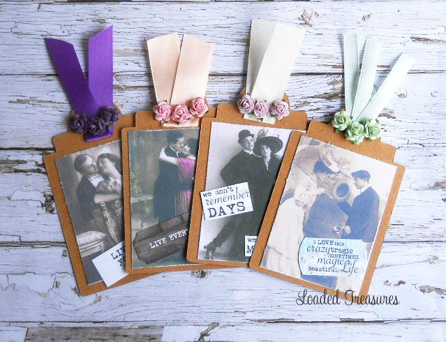 Handmade Kraft Tags Vintage Ladies & Gents Tags Ephemera - 4 Tags