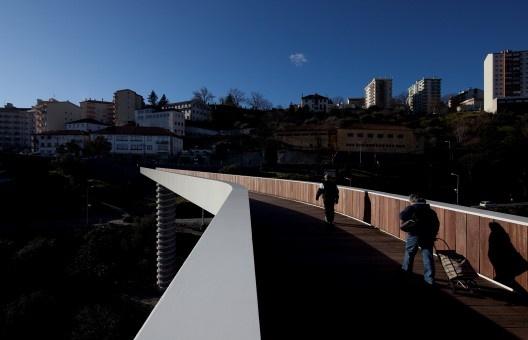 Puente peatonal en Covilhã