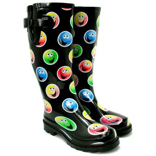 Hot women in Wellington Rain Boots  | ... -FESTIVAL-WELLY-WELLIES-WELLINGTON-FLAT-KNEE-HIGH-RAIN-BOOTS-SIZE