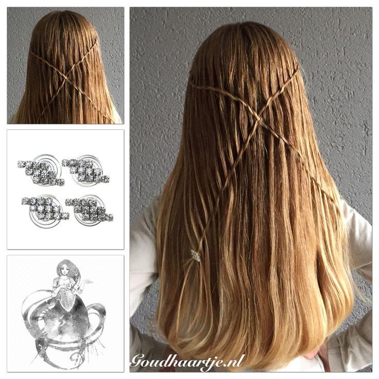 Criss cross waterfall twist braid