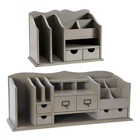 "Original Home Office™ Desk Organizers  Dimensions: Large: 12""H X 30""W X 10""D Medium: 10 1/2""H X 15""W X 8""D"
