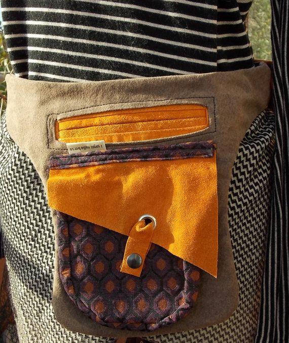 tasca/marsupio in pelle riciclata alegria di Isogninellaborsa