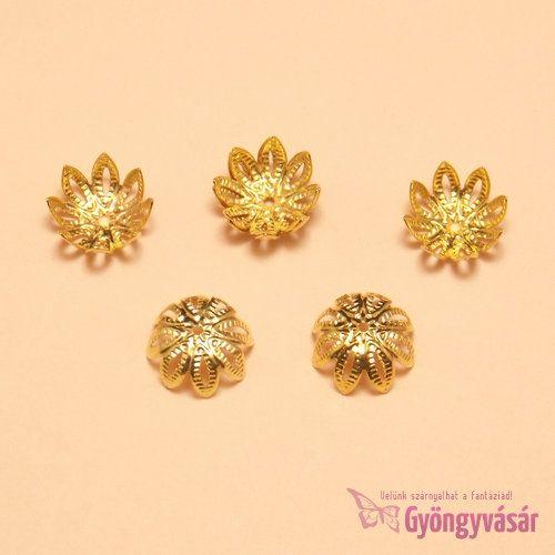 Aranyszínű, nagy leveles gyöngykupak • Gyöngyvásár.hu