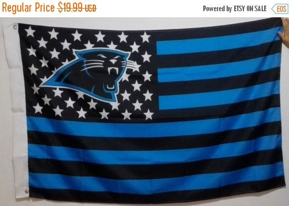 ON SALE Carolina Panthers, Panthers Nation Flag or Banner 3' x 5'