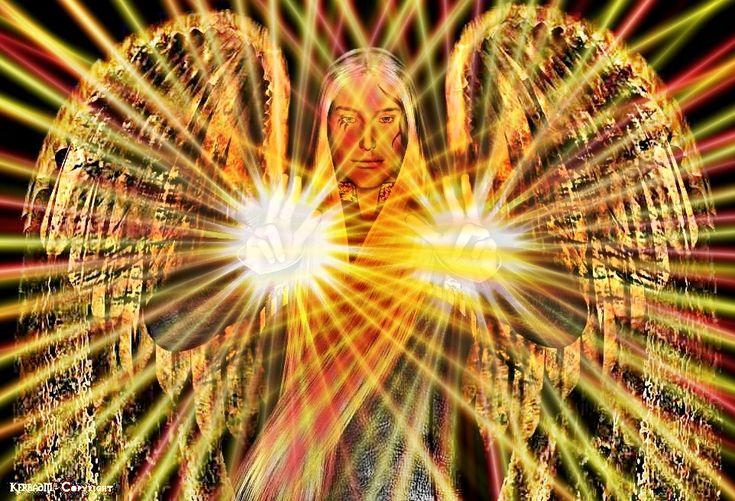 """METATRON É UM SERAFIN  - Metatron significa Rei dos Anjos """"O Anjo Supremo"""", Porta-voz Divino, mediador de Deus com a humanidade. É o Anjo da Morte e da Vida. É como escrivão Divino. Possui seis asas e é envolto por chamas de fogo, têm poderes de..."""