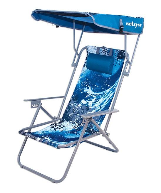 Beach Canopy Chair Blue Wave Kelsyus Sit