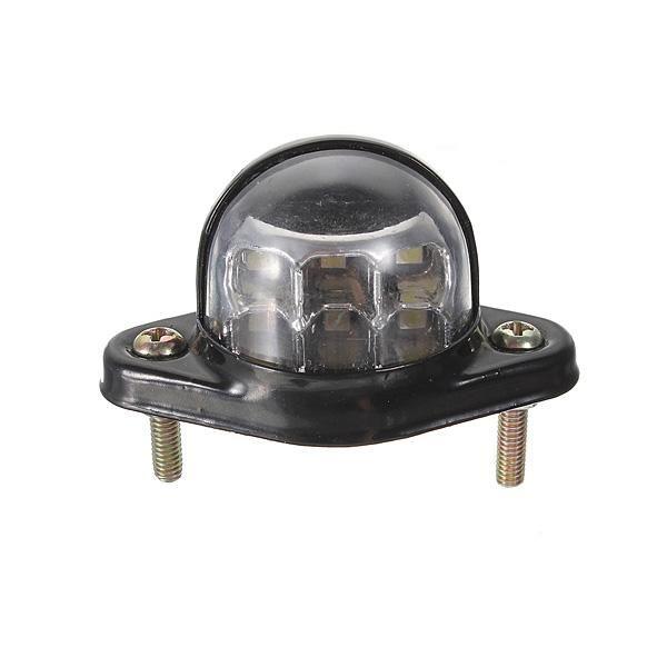 12V 6 LED Kennzeichenleuchte Lampe Anhänger LKW LKW wasserdicht reflektieren …   – Car Lights