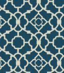Home Decor Fabric-Waverly Lovely Lattice Lapis