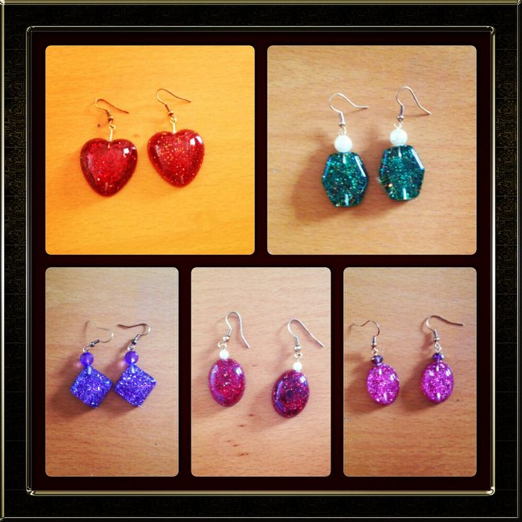 New trend: Earrings from glass in many shapes and colours !