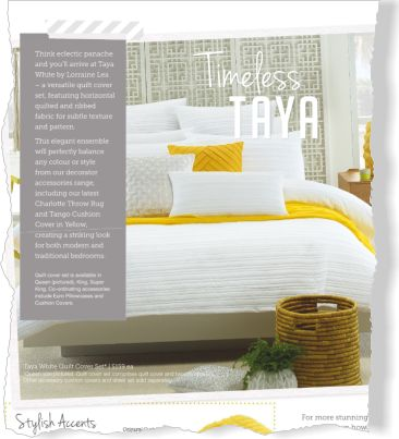 Lorraine Lea Linen. Clipped from Better Homes and Gardens using Netpage.