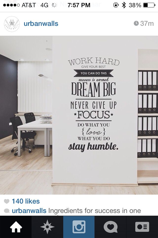 start from £11 - an inspirational or work related wall statement - like these from urbanwall