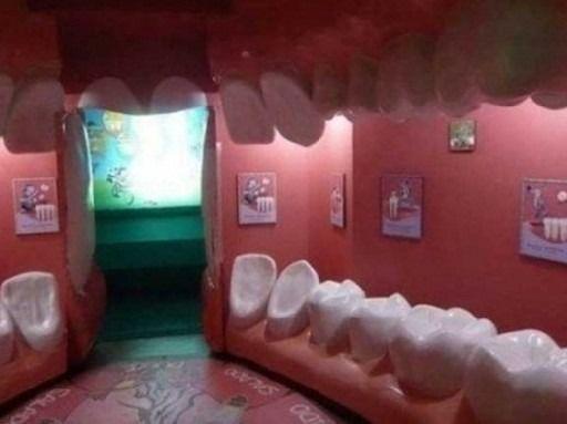 흔한 치과 대기실 모습