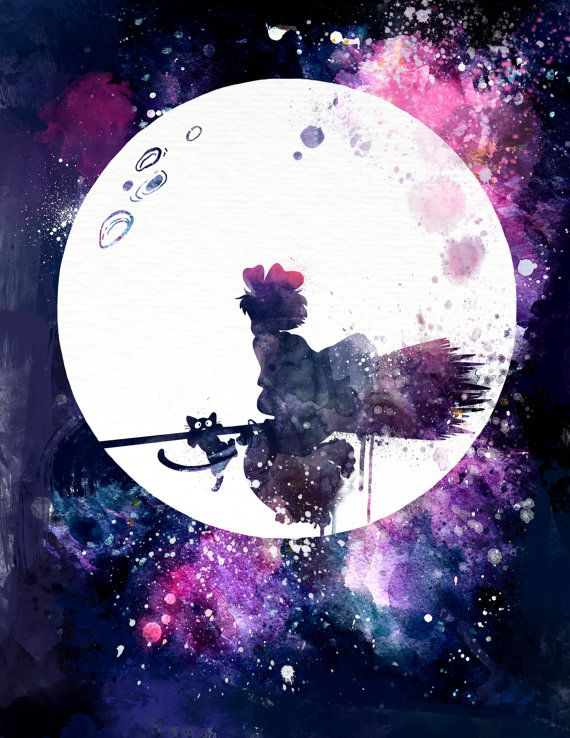 Kiki's Delivery Service Flying near the by PenelopeLovePrints                                                                                                                                                     More