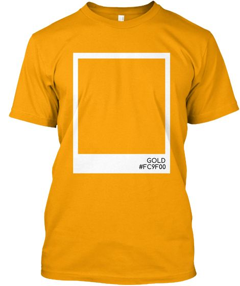 Gold Color Gold Kaos Front