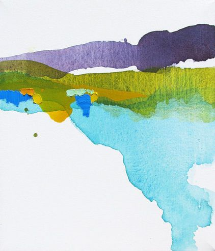 contemporary artwork by Etsy  Colorful Minimalist Abstract Landscape Painting by Lauren Adams Art - $375