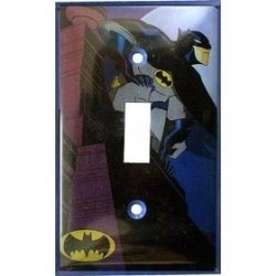 Batman Bedroom Decor - Light switch plate
