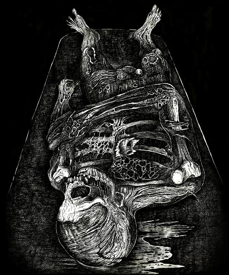 "Diseño para T-Shirt - Tanatopraxia  ""Decomposition"""