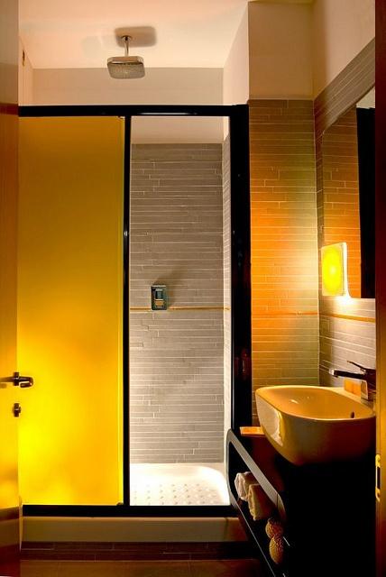 Interior Design Ideas: Orange Boutique Hotel In Rome 13/16 by yossawat.com, via Flickr.... sliding doors Rome Hotel Interior Designs
