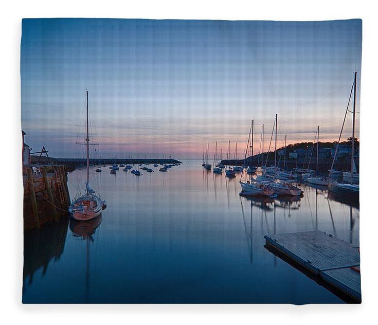 #jefffolger Fleece Blanket featuring the photograph Quiet Solitude Rockport Harbor by Jeff Folger