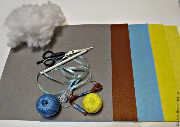 Шьем именное панно-метрику из фетра «Мишка на луне» - Ярмарка Мастеров - ручная работа, handmade