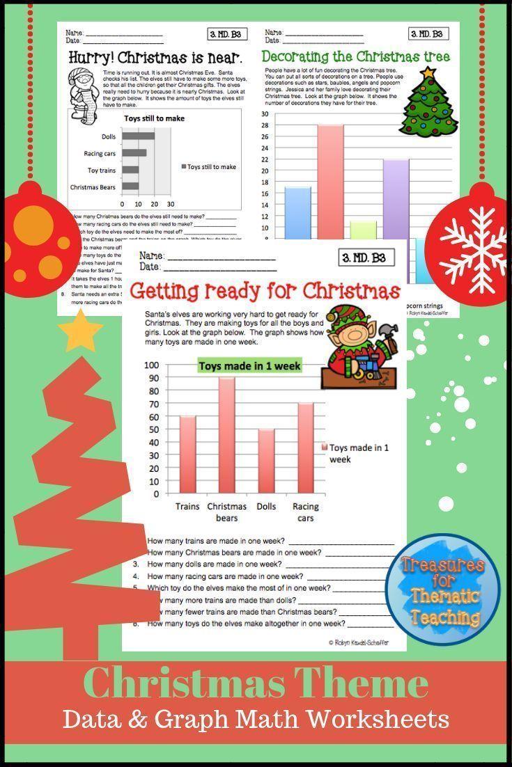 Christmas Math Data And Graph Worksheets Grade 3 Christmas Math Reading Graphs Graphing