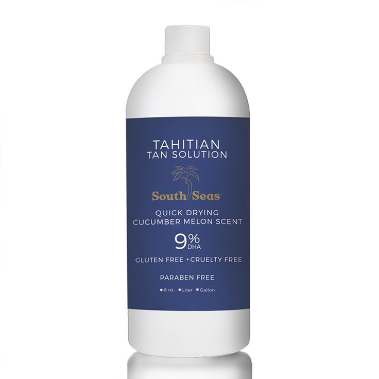 Tahitian Tan is the most sought after spray tanning solution in the world. Contains 9% DHA and provides an ideal tan for all skin types. The mahogany color guide offers immediate, beach-beautiful color! Fast drying, non-sticky, cucumber-melon scent, paraben-free.Our solutions are made fresh and we encourage you to buy a three month supply at a time. One gallon will yield 90-100 tans; one liter will yield 20-25 tans; one 8oz will yield 4-6 tans. All South Seas Tanning Solutions are…