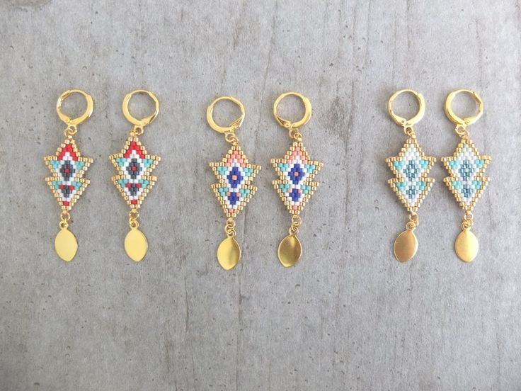 Boucles d'oreille ★ Massaï ★ via My-French-Touch. Click on the image to see more!