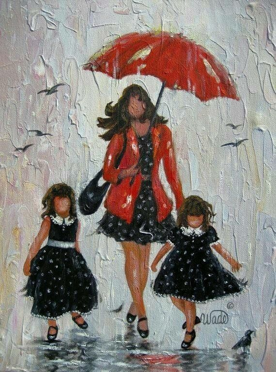 Mother and 2 daughters by Vicki Wade