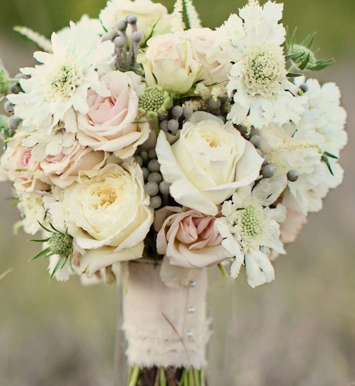 Romantic Wedding bouquet for Fall and Winter; via Stems Floral Design and Productions