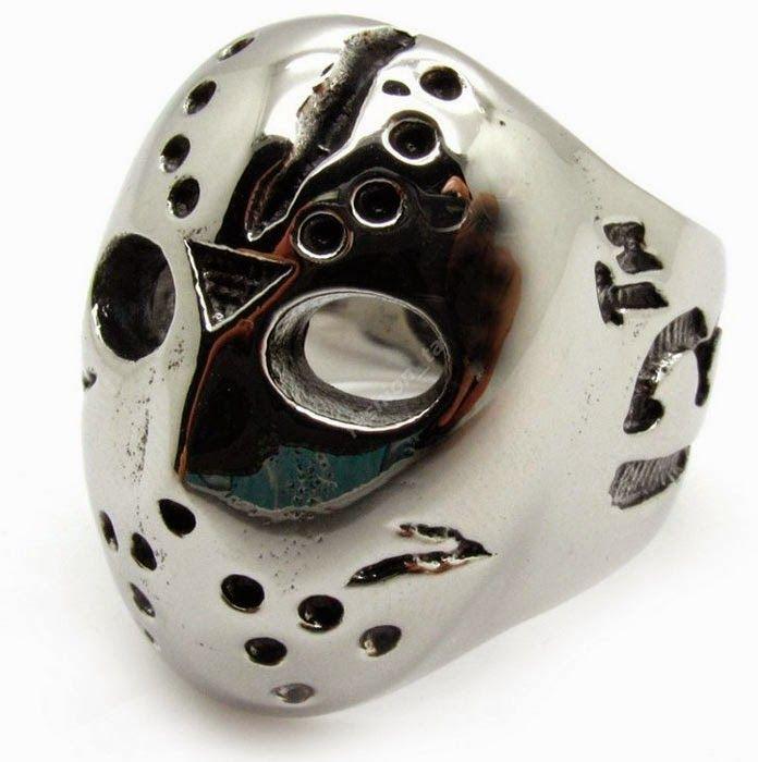 Anillo Máscara Jason Viernes 13 | Merchandising Películas